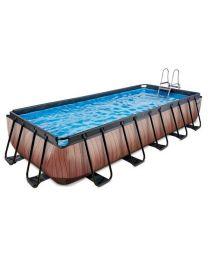 Exit - Schwimmbad - 5.4x2.5x1m - Premium - Holz Optik