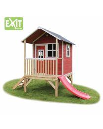 Exit - Loft 300 Rot - Holzspielhaus