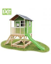 Exit - Loft 500 Grün - Holzspielhaus