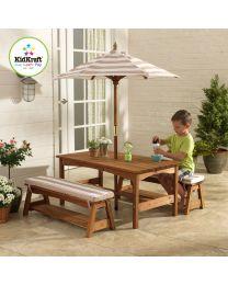 Kidkraft - Gartenset mit Kindertisch und Bänken