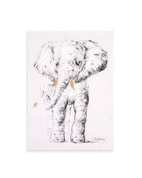 Childhome - Ölgemälde Elefant - 30x40 cm - Für Das Kinderzimmer