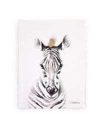 Childhome - Ölgemälde Zebra - 30x40 cm - Für Das Kinderzimmer