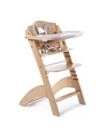 Childhome - Lambda 3 Baby Treppenstuhl und Brett und Abdeckung - Natur