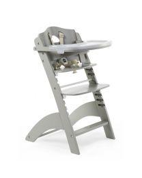 Childhome - Lambda 3 Baby Treppenstuhl und Brett und Abdeckung - Stone Grau
