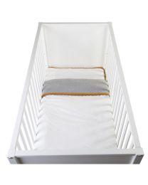 Childhome - Bettwäsche + Kissenbezug - 100x140 cm - Jersey Crochet Ecru