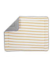 Childhome - Laufgitter Einlage/Spielmatte - 75x95 cm - Jersey Ochre Stripes