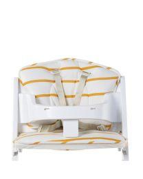 Childhome - Hochstuhl Kissen Jersey - Ochre Stripes