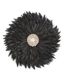 Childhome - Juju Feathers 30 Cm - Anthrazit - Wanddekoration