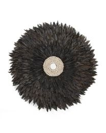 Childhome - Juju Feathers 50 Cm - Anthrazit - Wanddekoration