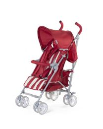 Childhome - Buggy 5 Pos Alu - Rot/Weiss Retro Stripes