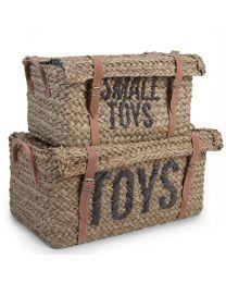 Childhome - Rattan Aufbewahrungsbox und Gurt Toys Small Toys - 2Er Set