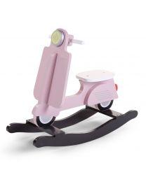 Childhome - Scooter Pink/Schwarz - Hölzernes Schaukelpferd
