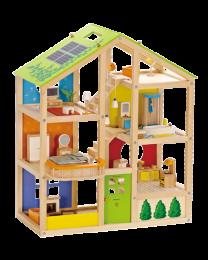 Hape - 4-Jahreszeiten-Puppenhaus - Holzpuppenhaus
