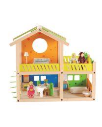 Hape - Happy Villa - Hölzernes Puppenhaus