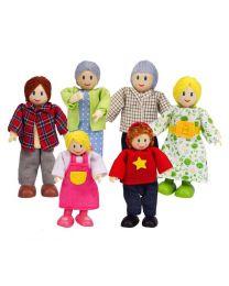 Hape - Puppen (Kaukasier) - Für Puppenhaus