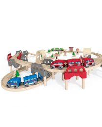 Hape - High & Low Railway Set - Holzzüge