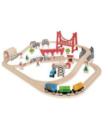 Hape - Double Loop Railway Set - Holzzüge