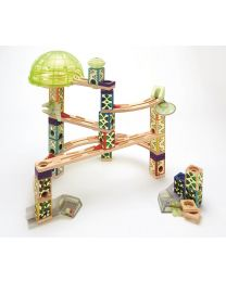 Hape - Quadrilla Kugelbahn Space City Glow in the Dark - Holz