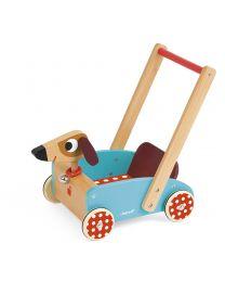 Janod - Crazy Doggy - Hölzern Laufwagen