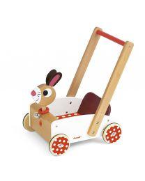 Janod - Crazy Rabbit - Hölzern Laufwagen