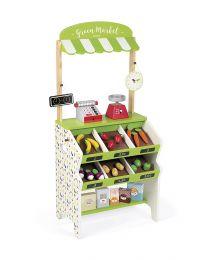 Janod - Kaufmannsladen Green Market - Kinderküchen aus holz
