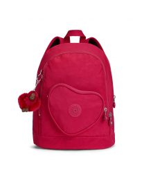 Kipling - Heart Backpack True Pink - Schultasche Rosa