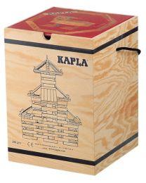 Kapla - Bausteine - 280 Stück + Buch Rot
