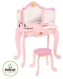 Kidkraft - Prinzessinnenfrisiertisch Mit Stuhl - Holz