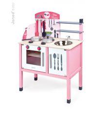 Janod - Kinderküche 'Mademoiselle' Rosa Gross