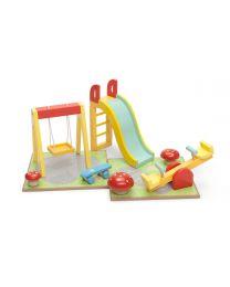 Le Toy Van - Spielplatz Set - Für Puppenhaus