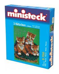 Ministeck - 3 Katzen – 9750st - Mosaiksteine