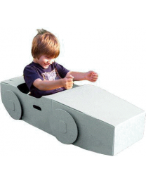 Paperpod - Karton Auto Weiß