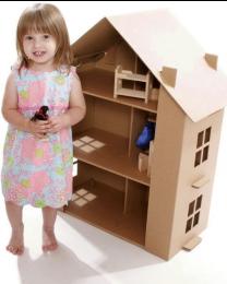 Paperpod - Karton Puppenhaus Braun