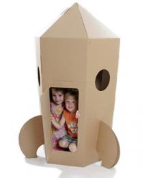 Paperpod - Karton Rakete Braun