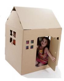 Paperpod - Karton Spielhaus Braun
