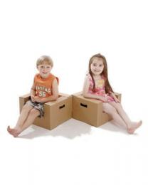 Paperpod - Karton Kleinkindstuhl Braun