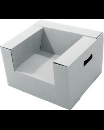 Paperpod - Karton Kleinkindstuhl Weiß