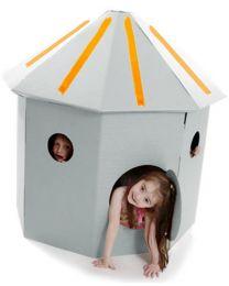 Paperpod - Karton Hütte Weiss