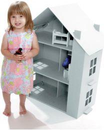 Paperpod - Karton Puppenhaus Weiss