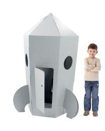Paperpod - Karton Rakete Weiss