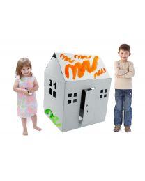 Paperpod - Karton Spielhaus Weiss