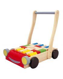 Plan Toys - Babywalker – Holzlaufrad