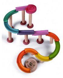 Plan Toys - Marble Run-Deluxe - Holzkugelbahn