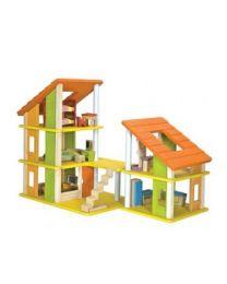 Plan Toys - Puppenhaus mit Möbeln - Holz