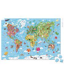 Janod - Puzzle Weltkarte