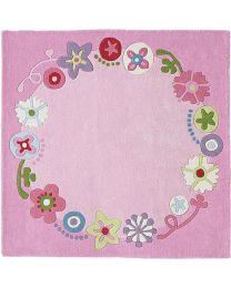Haba - Blumenkranz - Kinderteppich - 140x140cm