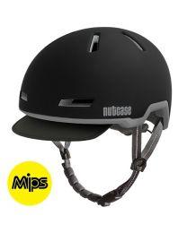 Nutcase - Tracer Mitternachtsschwarz Mips Matt - S/M - Fahrradhelm (52-56 cm)