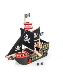 Le Toy Van - Barbarossa Piratenschiff - Holzspielset
