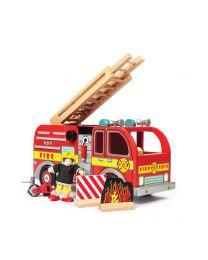 Le Toy Van - Feuerwehrwagen - Holzspielset