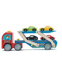 Le Toy Van - Rennwagen Transporter - Holzspielset